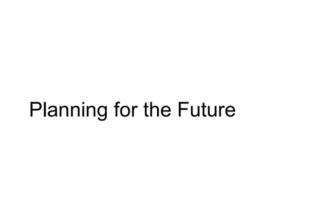 PDP_Planning Future